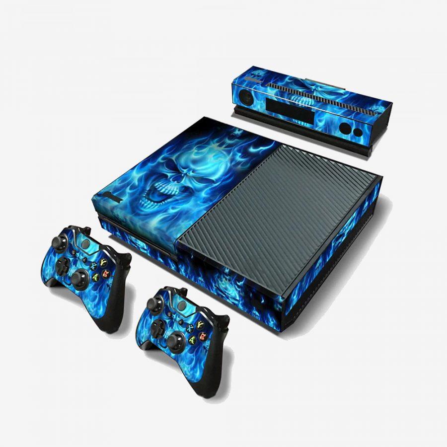 Blue-Skull-Xbox-One-Skin-1