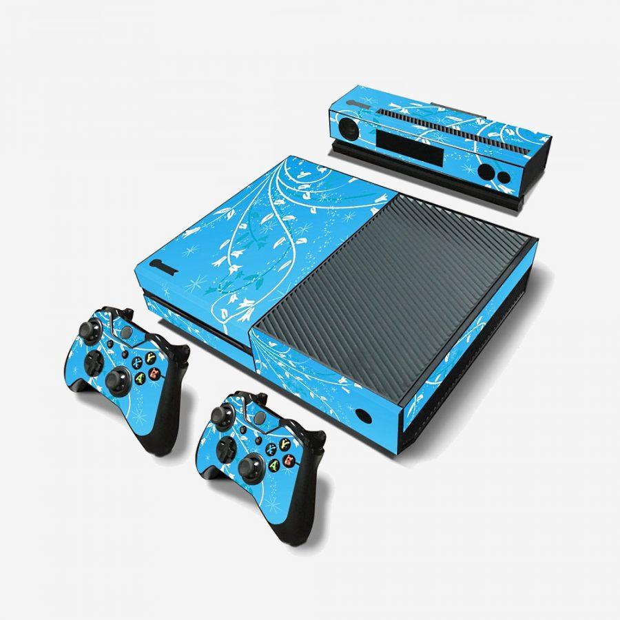 Blue-Flowers-Xbox-One-Skin-1