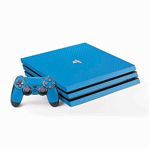 Sky Blue Carbon Skin PS 4 Pro