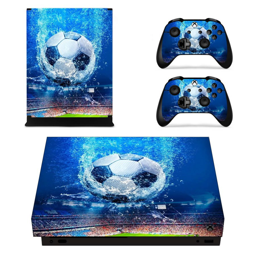 Blue Soccer - Xbox One X Skin