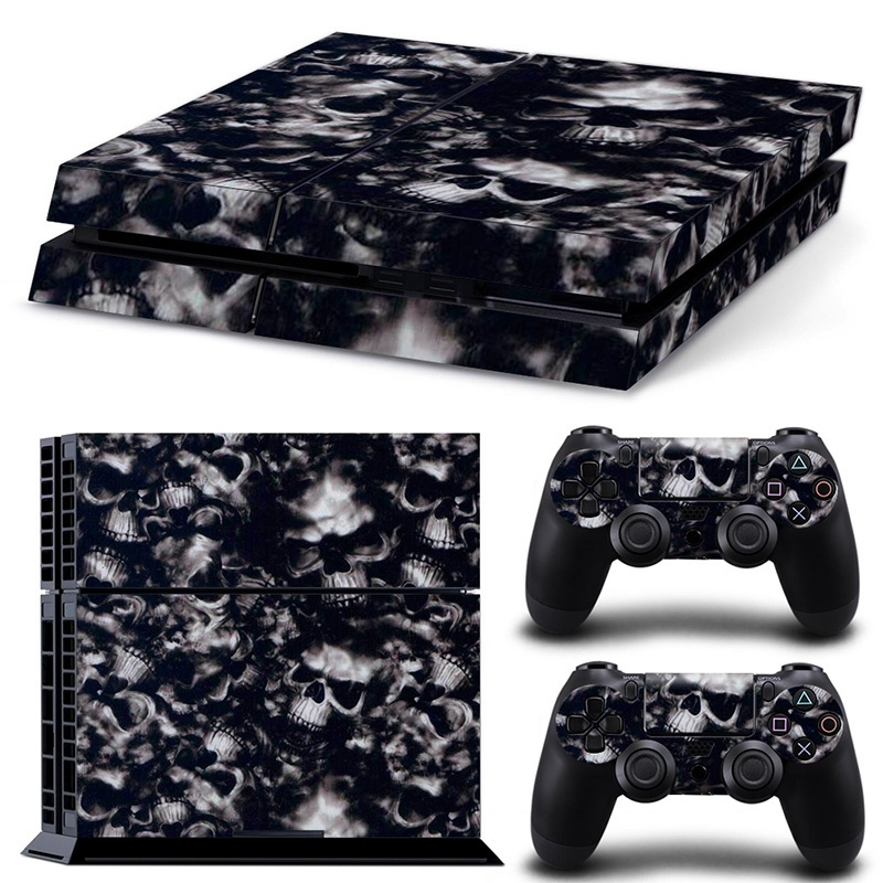 Black Skulls PS4 Skin