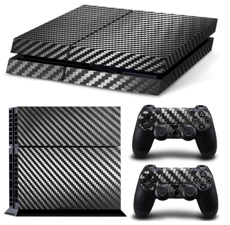 Black carbon PS4 skin
