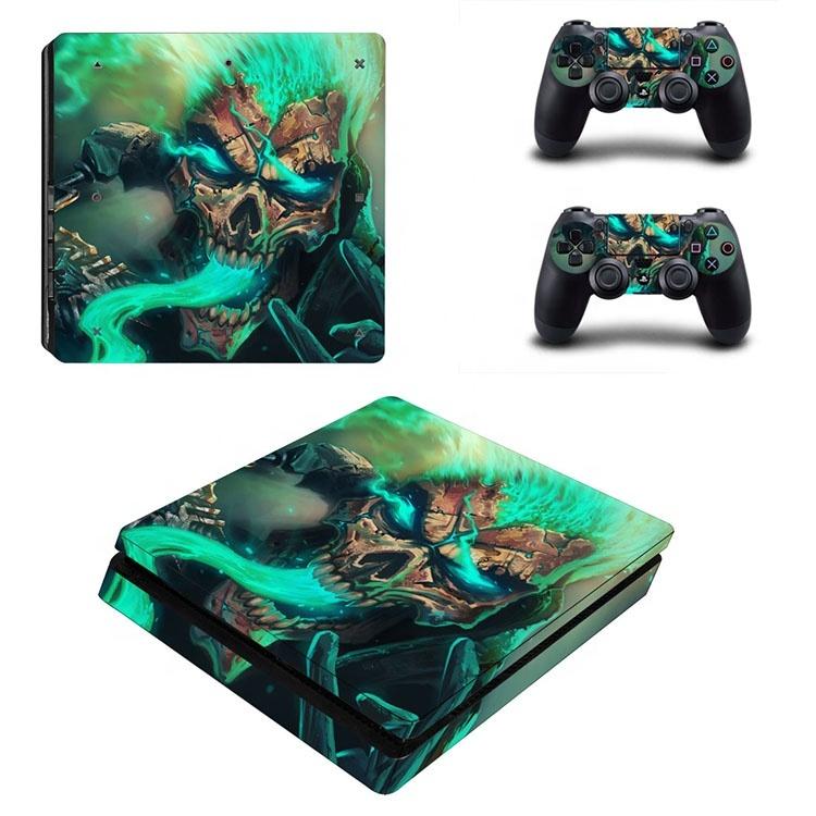 Green Skull PS4 Pro Skin