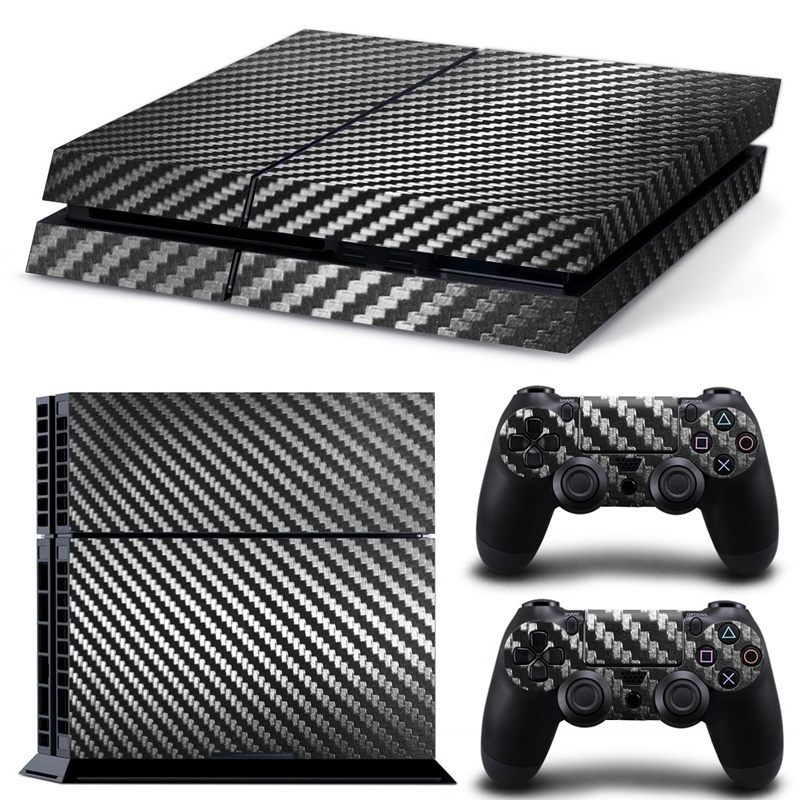 PS4 Slim Skin - Carbon Black