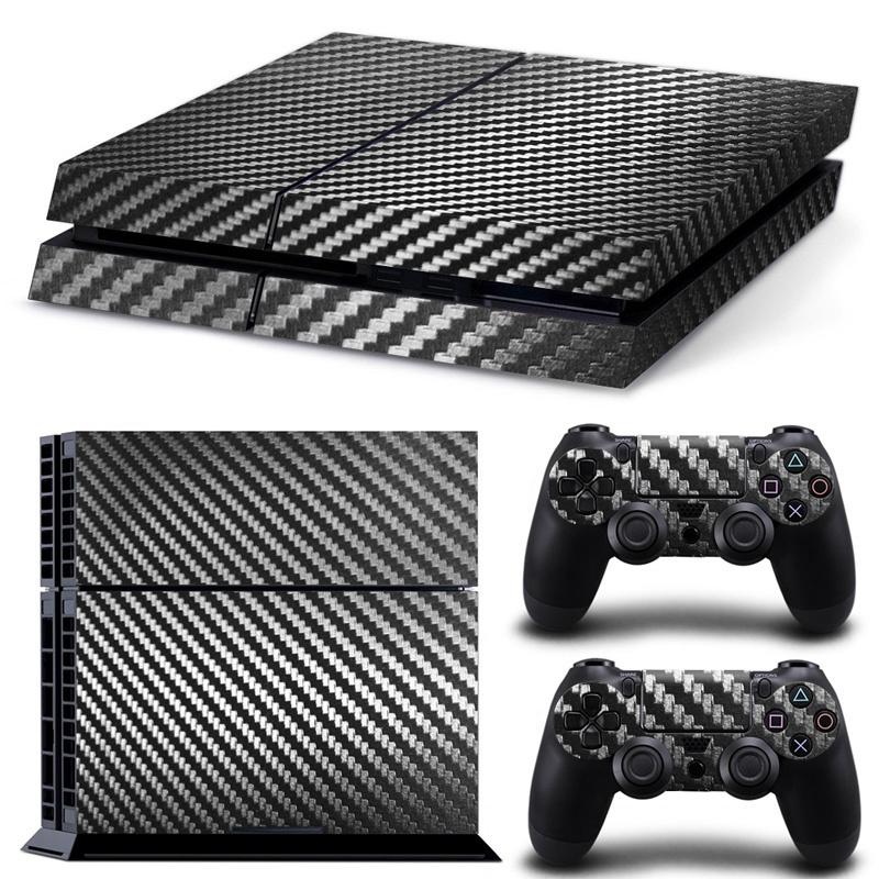 PS4 Slim Skin - Carbon Black