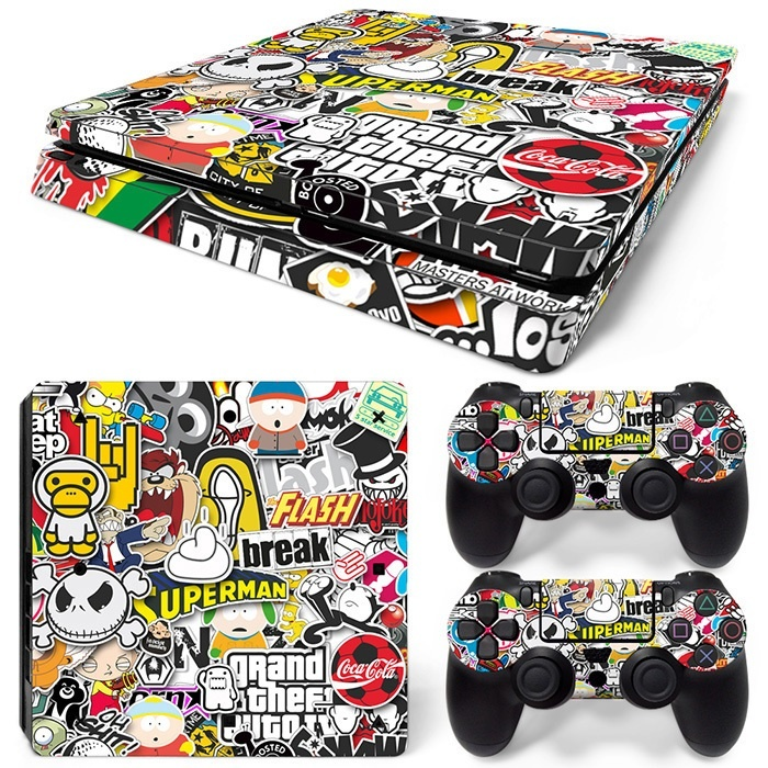 PS 4 slim cartoon skin