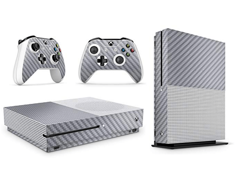 Silver Carbon Xbox One S skin