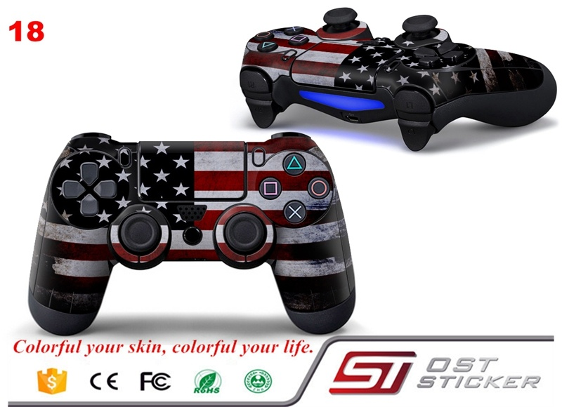 Vinted USA PS4 controller skin sticker