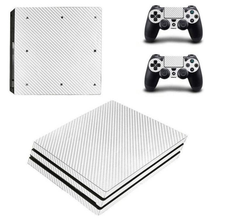 White carbon PS4 skin