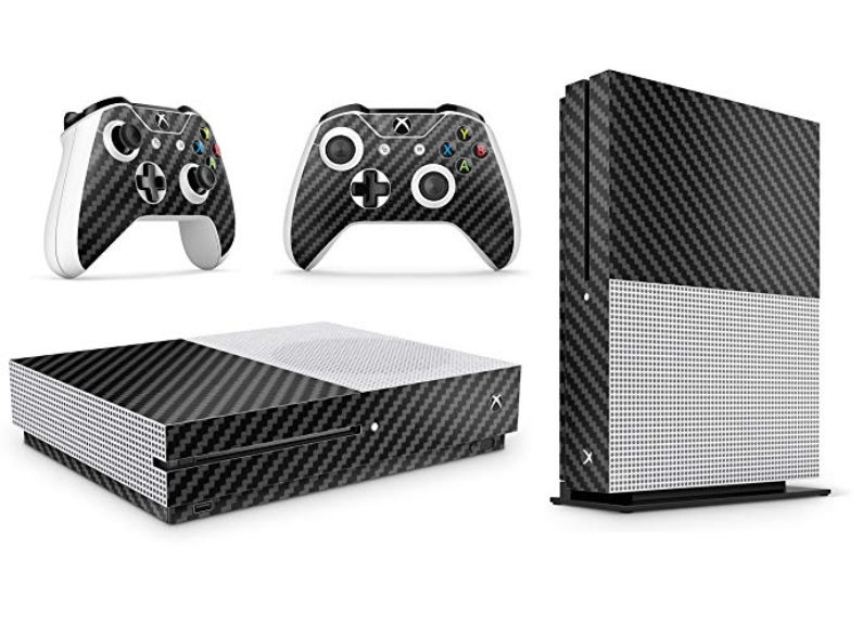 Xbox One S Black Carbon skin