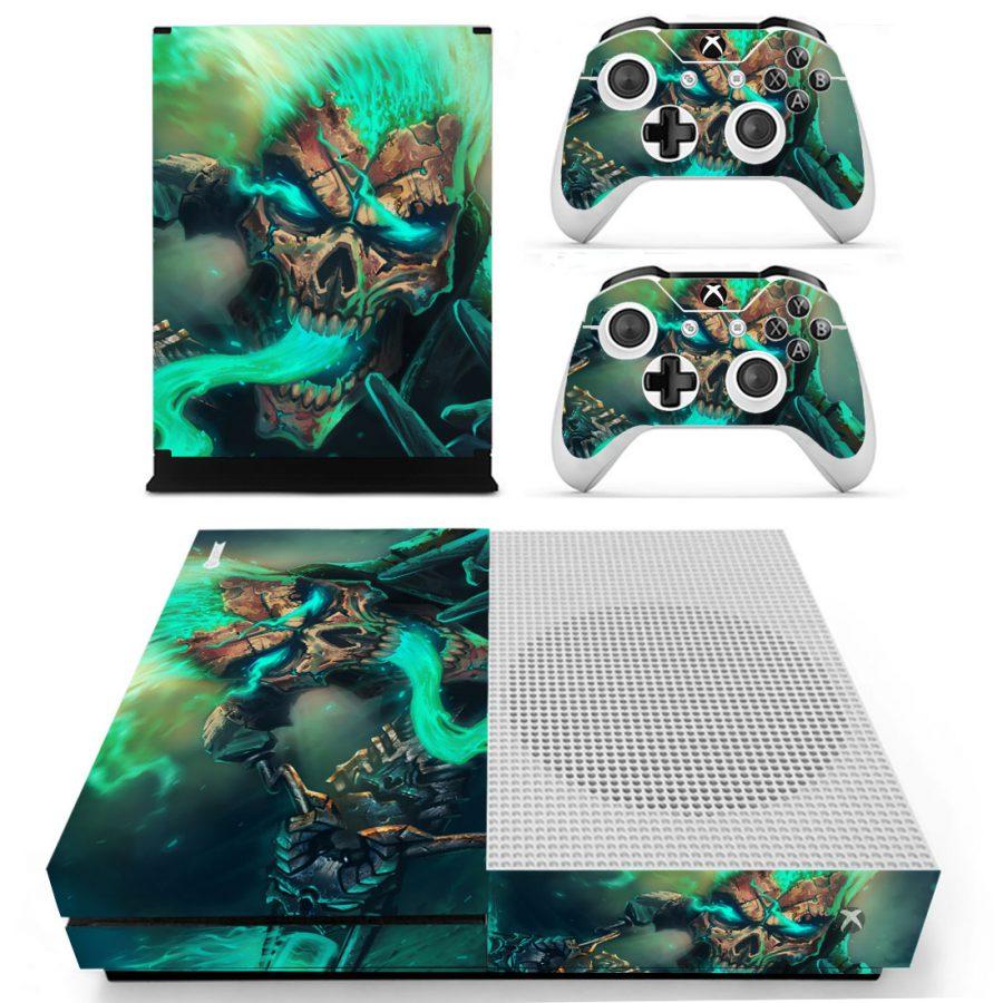 Green Skull Xbox One S skin