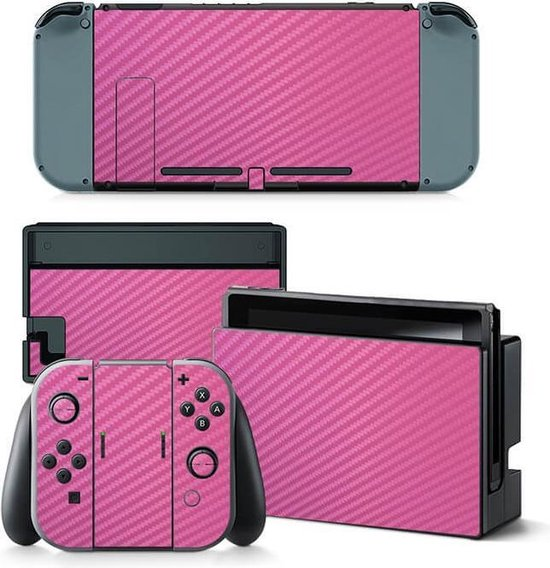 Carbon Pink NIntendo Switch stickers