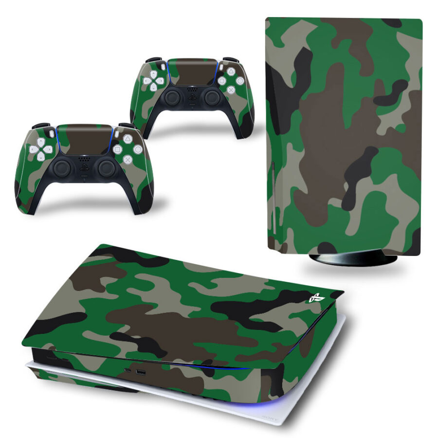 Camouflage Ps5 sticker