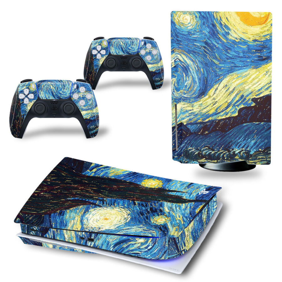 van Gogh PS5 sticker