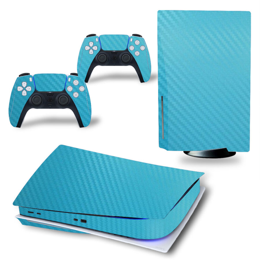 Carbon blue PS5 sticker
