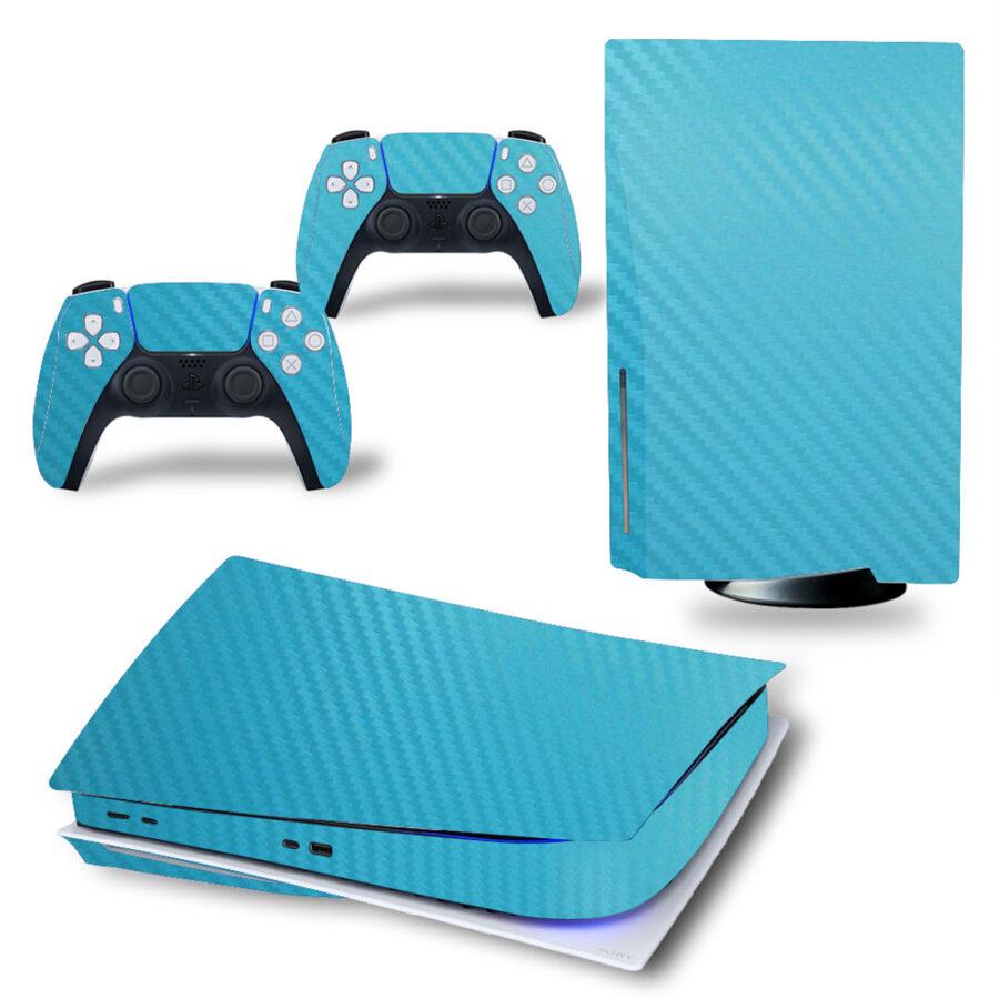 Carbon blue PS5 sticker
