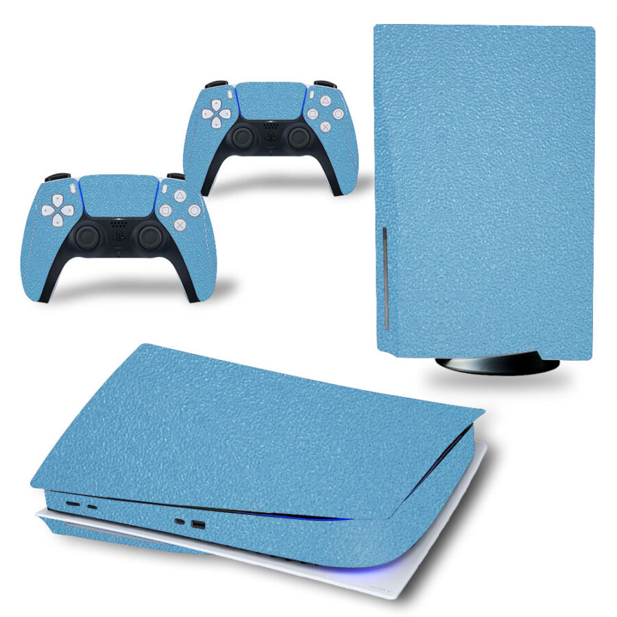 PS5 Leather Blue sticker
