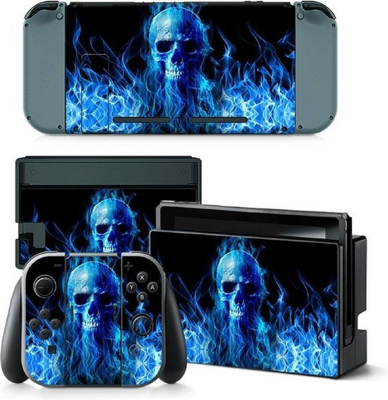 Blue Skull NS Swich skin