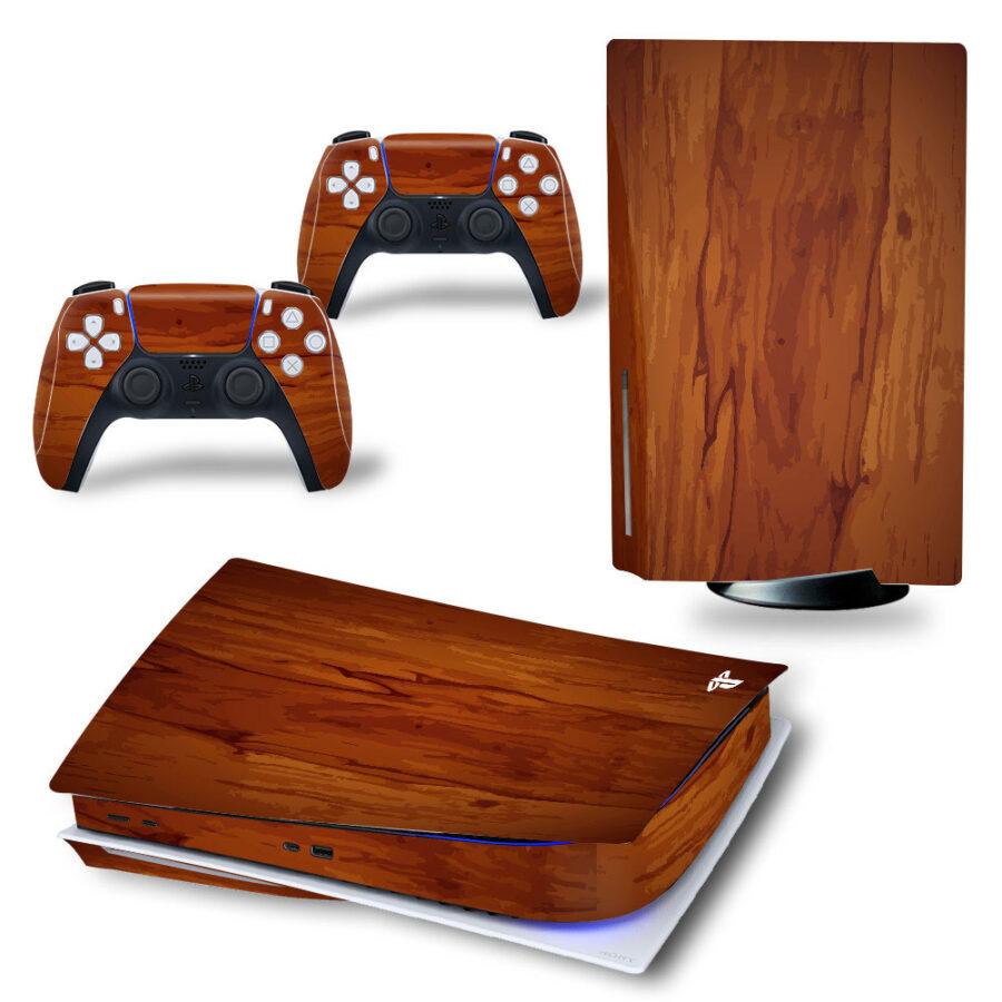 Ps5 Skin Wood