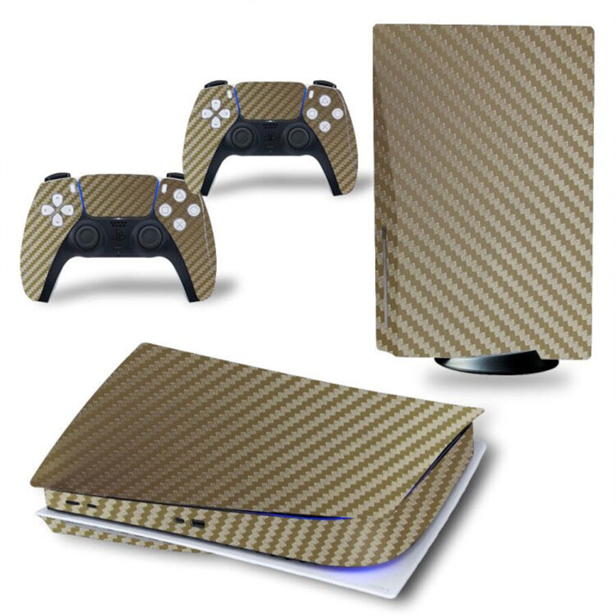 Ps5 skin carbon Gold