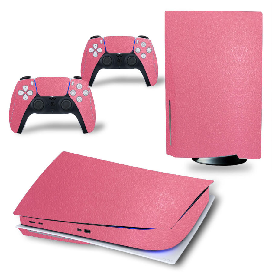 Ps5 skin leather pink